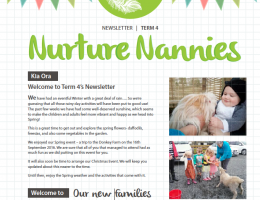 Nurture Nannies Term 4 Newsletter 2016
