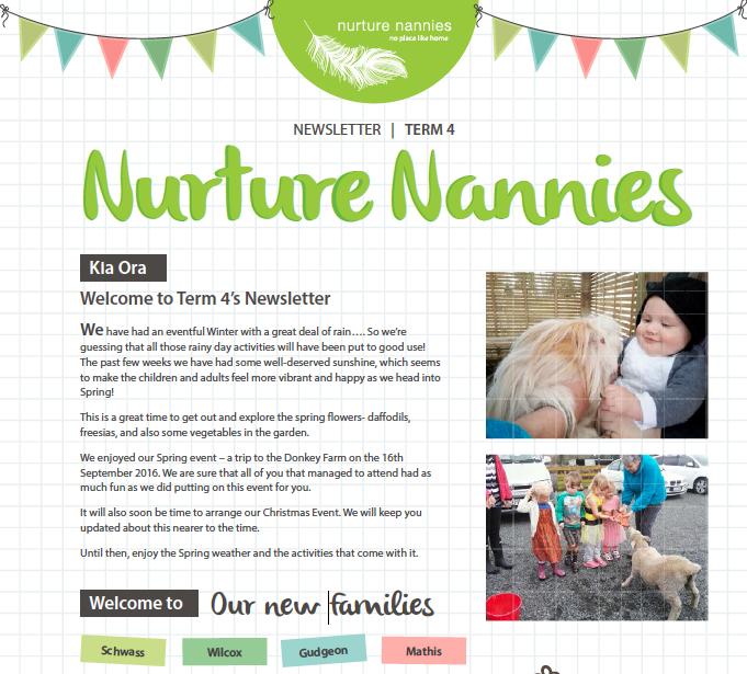 Nurture Nannies Term 4 Newsletter 2016